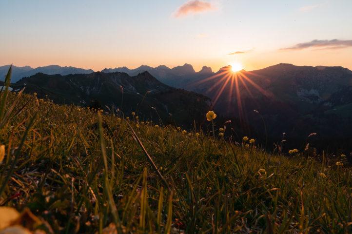 Sonnenuntergang vom Cheibehorn