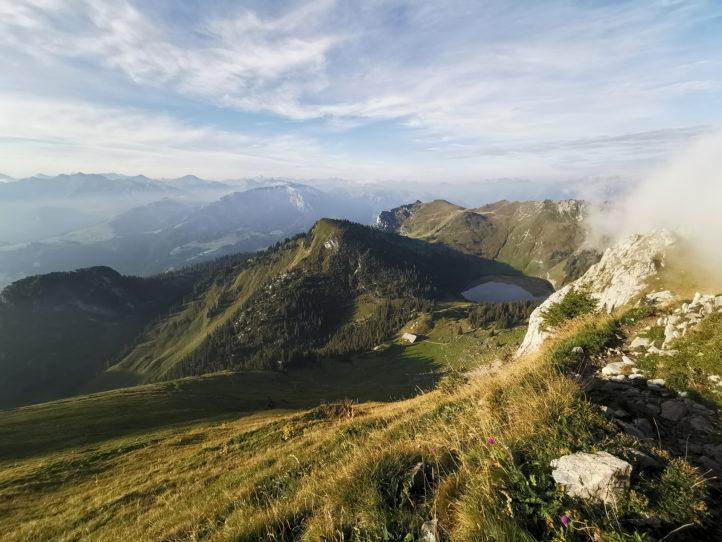 Auf dem Weg zur Alp - via Strüssligrat