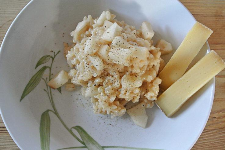 Risotto aux poires et au fromage d'alpage