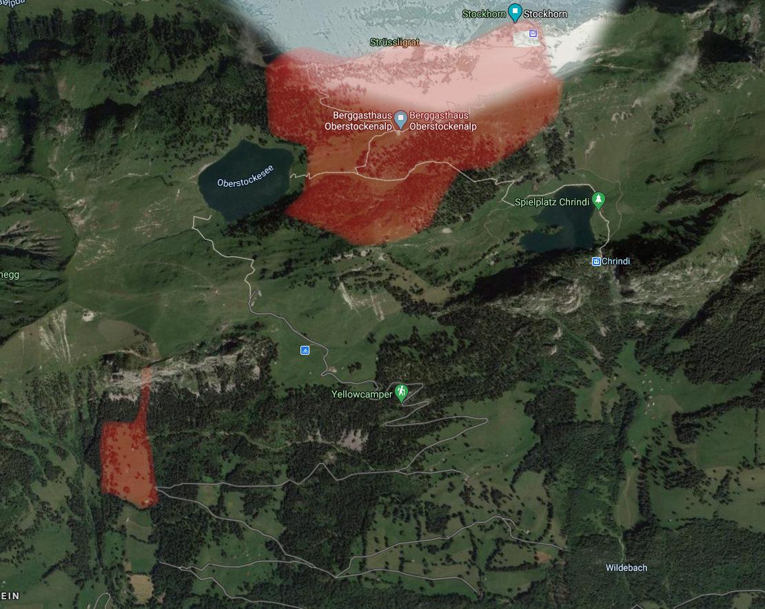 Karte Oberstockenalp